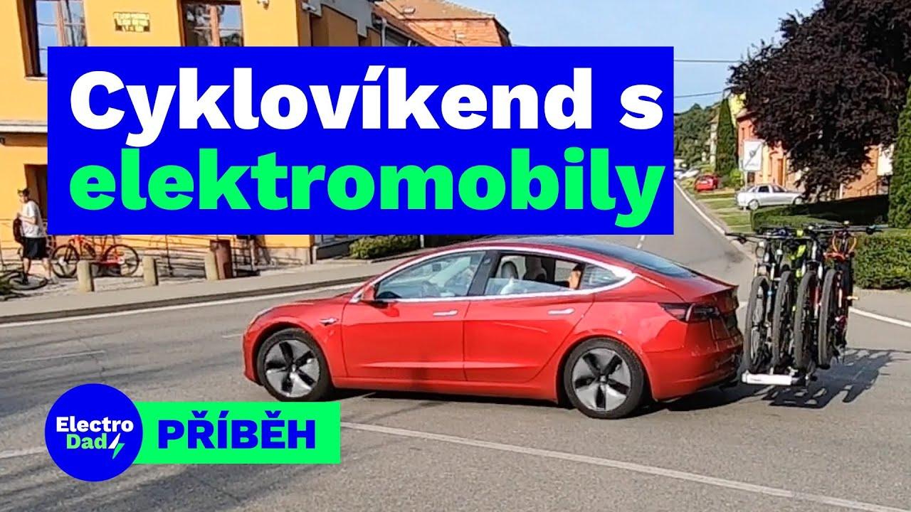 Cyklovíkend s elektromobily Tesla Model 3 a Hyundai Kona ...